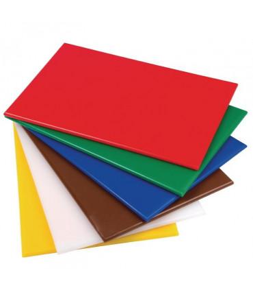 6 x Planches à découper à code couleur - S242 Hygiplas Gastronoble Nisbets