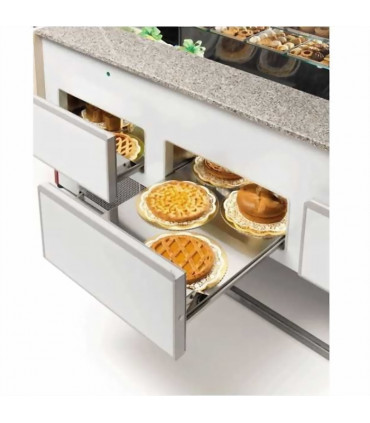 Comptoir vitrine réfrigérée chargement expo basse par tiroirs - UT29/A4 DIAMOND