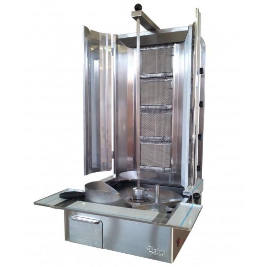 Machine Döner Kebab grill gaz ERC1 ERCIYES 4 brûleurs