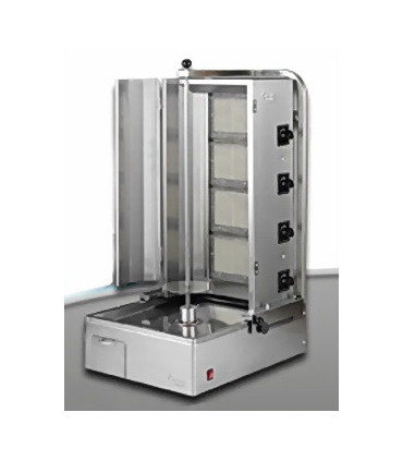 Machine Döner Kebab grill gaz ERC1 €RCIYES 4 brûleurs