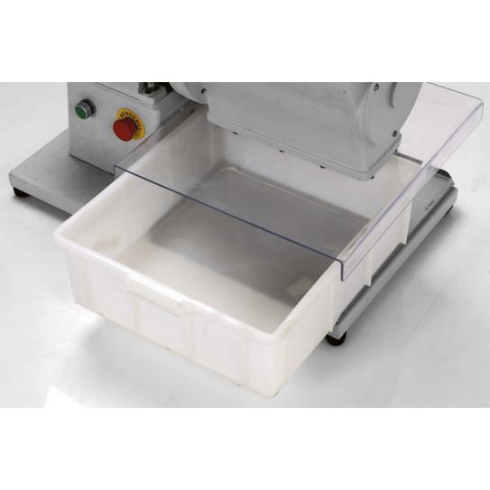 Détail bac plastique Râpe parmesan et pain grattugia 120 kg/h FAMA GGHP4 FGG 106 / 107