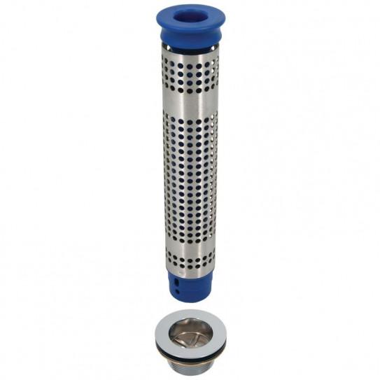 Bonde et tube de surverse pour plonge avec filtre 300 mm PA/K+FILTRE300