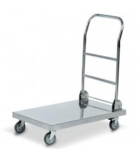 Chariot trolley Inox de transport pliable pour cuisine restaurant CMIN18S1N