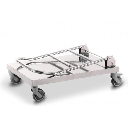 Chariot trolley Inox dos replié pour cuisine restaurant CMIN18S1N