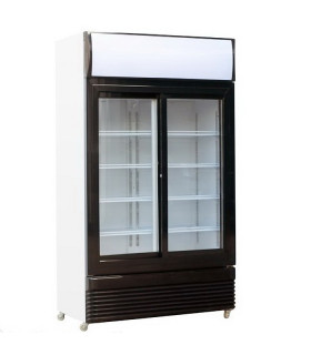 Vitrine réfrigérée à boissons 2 portes vitrées coulissantes 750L - 7455.1395