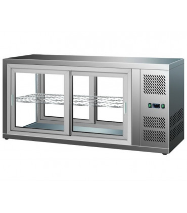 Vitrine pâtisserie, desserts réfrigérée ventilée à poser 150 L froid positif - 7450.0600 Combisteel