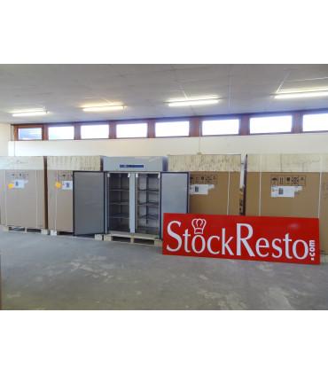 StockResto armoire froide 1410L positive sur roulettes 2 portes inox GN 2/1 - GN1410TN L2G