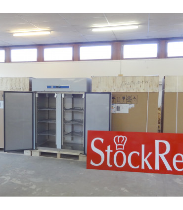 Stock armoire froide 1410L positive sur roulettes 2 portes inox GN 2/1 - GN1410TN L2G