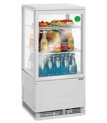 Mini vitrine réfrigérée verticales 58 litres 4 faces vitrées