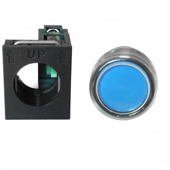 Bouton poussoir bleu pour façonneuse pizza IGF 2300/B40 et 2300/B30 - 2300/B30Z06 et 2300/B40Z06 et 9319021