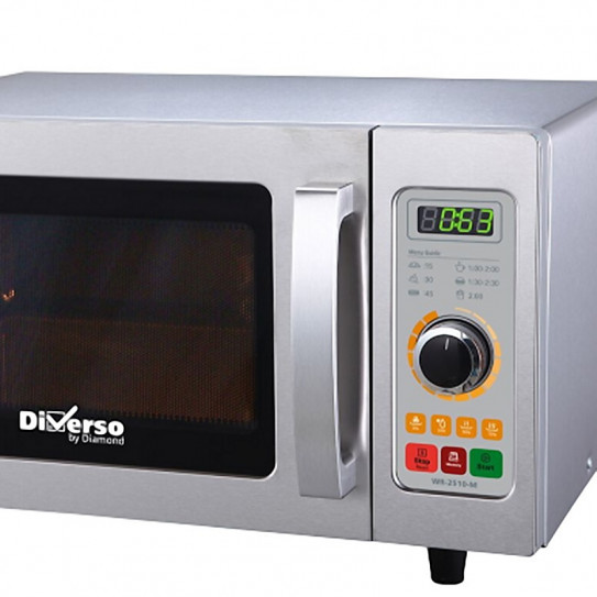 Four micro-ondes inox 25L mécanique 1000W - WR-2510-M Diverso by Diamond
