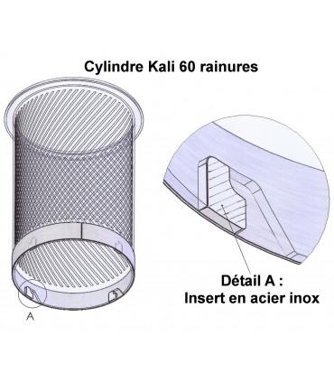 Détail insert inox Cylindre Kali 60 rainures pour bouleuse Pastaline PC200114-5