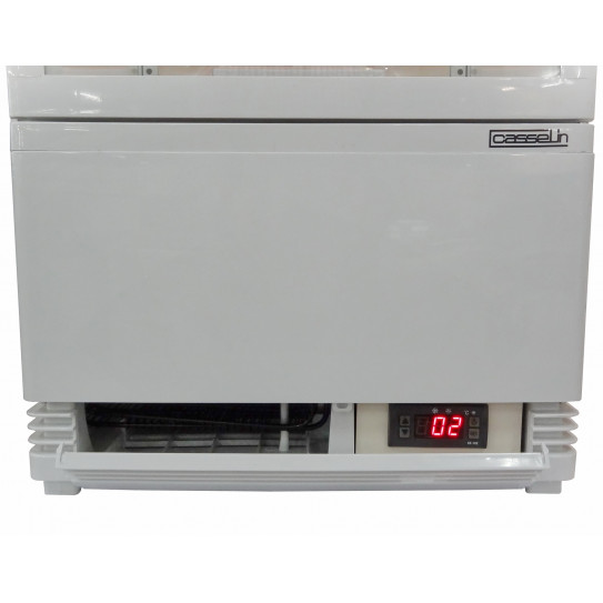 Vitrine réfrigérée 98 litres 4 faces vitrées - Régulateur thermostat électronique digital