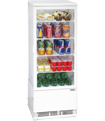 Vitrine réfrigérée 98 litres verticale ventilée 4 faces vitrées CVR98LB