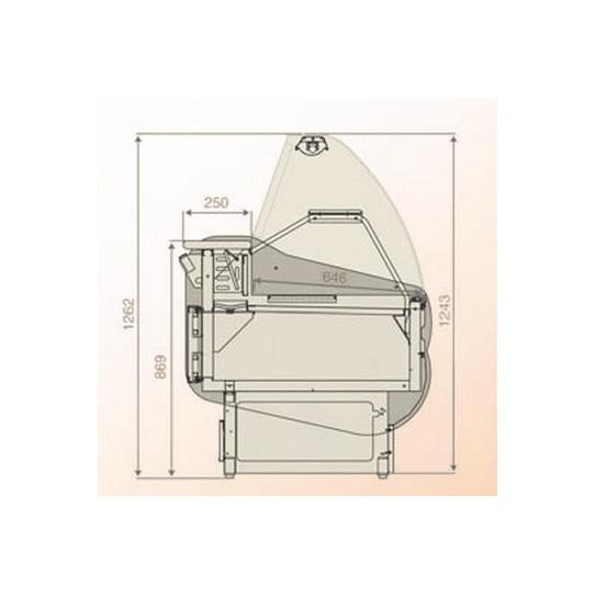 Master vitrine réfrigérée de comptoir dimensions en coupe