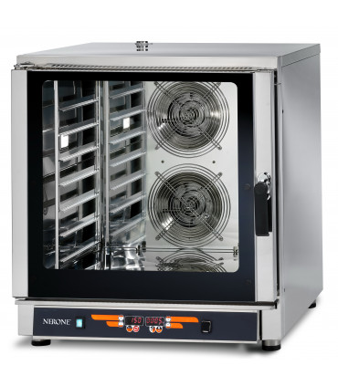 Four mixte 7 niveaux 60x40 ou GN1/1 vapeur à injection directe VESUVE 7TG NERONE VULCAIN-7