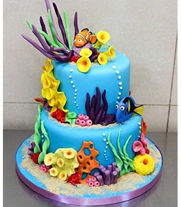 Gâteau décor réalisé avec le laminoir 45 cm MAXI SFOGLY