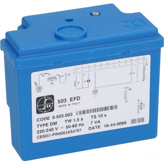 Boitier contrôle d'allumage 503EFD SIT pour four pizza gaz CUPPONE GS4, GS6, GS9 91310280