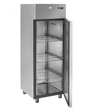 Armoire froide réfrigérée 700L tropicalisés GN2/1 positive 1 porte inox AIG700TN