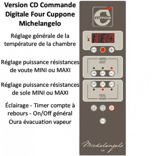 Commande four pizza Michelangelo ML435/2-CD Commande Digitale Numérique
