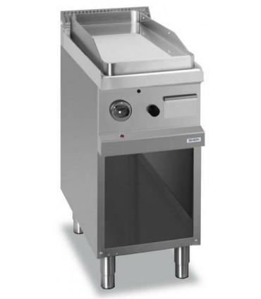 Plaque grillade gaz lisse en acier DEXION EXPRESS sur baie libre 40x70x85 cm - D77GFTA4L
