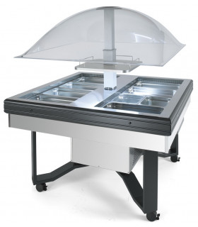 Self buffet froid +3 +10°C CUPOLA INOX SCAIOLA