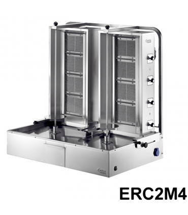 Machine Döner Kebab double 4 feux gaz ERC2M4 ERCIYES