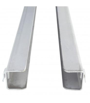 Paire de glissières gauche/droite en U de Long. 560 mm GN2100TN.25.2