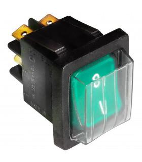 Interrupteur à bascule lumineux Vert On I / OFF 0 pour laminoir pizza IGF 2300/L40Z26