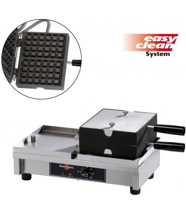 Gaufrier électrique simple ouveture 180° à basculement Krampouz 2 gaufres 4x6 Bruxelles WECABA