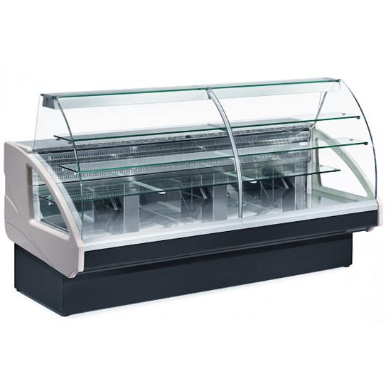 Comptoir vitrine réfrigérée 1400x980xH1237mm 4 niveaux chargement à tiroirs - UT14/A4 DIAMOND
