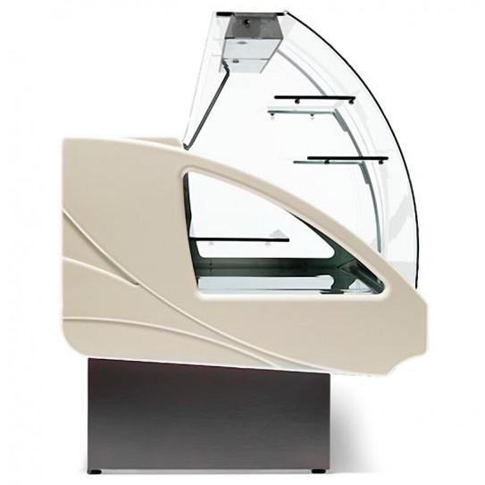 Vue de profil comptoir vitrine réfrigérée chargement à tiroirs - UT14/A4 DIAMOND