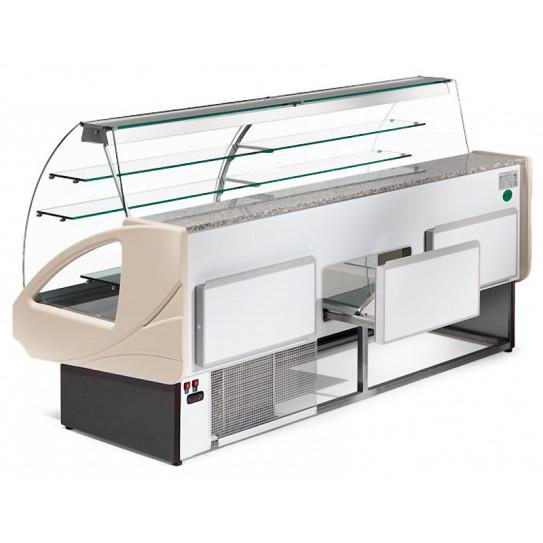 Tiroir comptoir vitrine réfrigérée 2200x980xH1237mm 4 niveaux - UT22/A4 DIAMOND