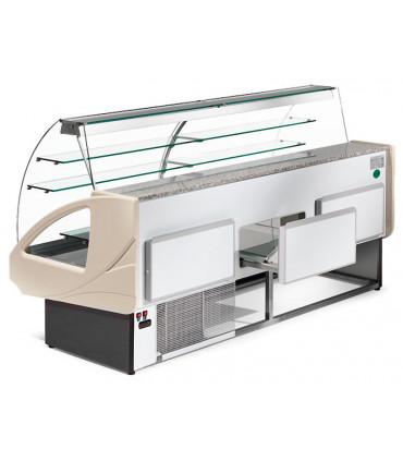 Tiroir comptoir vitrine réfrigérée 2900x980xH1237mm 4 niveaux - UT29/A4 DIAMOND