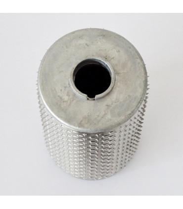 Rouleau inox MRI pour Grattugia GS ou GSM inox AIS304 vue flasque latérale