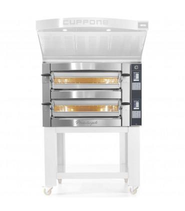 Four pizza électrique Michelangelo ML435/2-TS Cuppone + Options Support et Hotte