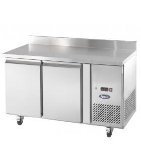 Desserte 600 réfrigérée 2 portes adossée Froid positif ventilé Tropicalisé Table Snack EPF3421-S Atosa