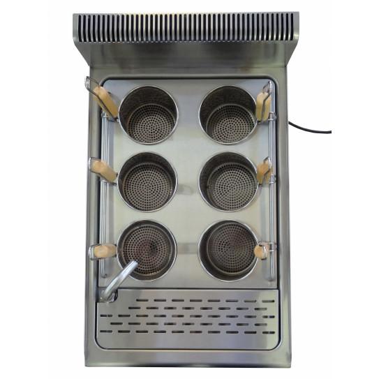 JUS-DM-2 - Cuiseur à pâtes électrique top de table 15L 5,4kW - 6 paniers