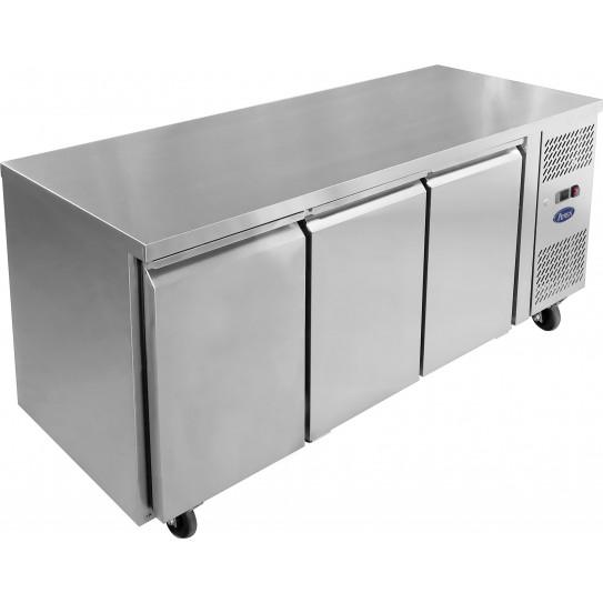 Desserte GN1/1 réfrigérée 3 portes Froid positif ventilé Tropicalisé Gastronorm EPF3432 Atosa