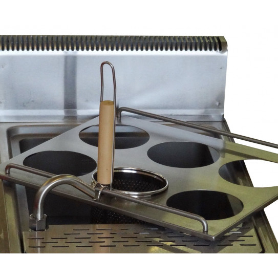Détail support 6 paniers - JUS-DM-2 - Cuiseur à pâtes électrique top de table 15L 5,4kW
