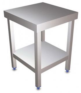 Table inox 600x600 centrale AISI304 + 1 sous tablette BUD-DCTCE66 L2G THATS66