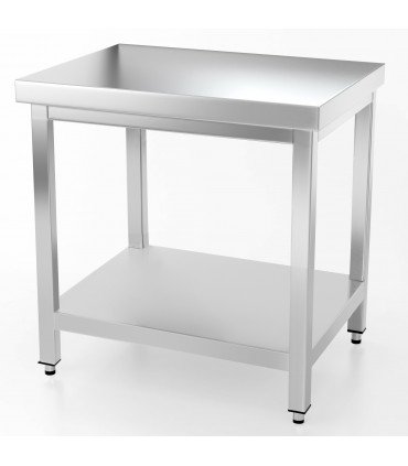 Table inox 1000x700 centrale AISI304 + 1 sous tablette BUD-DCTCE107 L2G THATS107