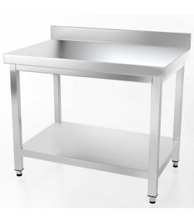Table inox 1000x700 adossée AISI304 + 1 sous tablette BUD-DCTAE107 L2G THATS107A