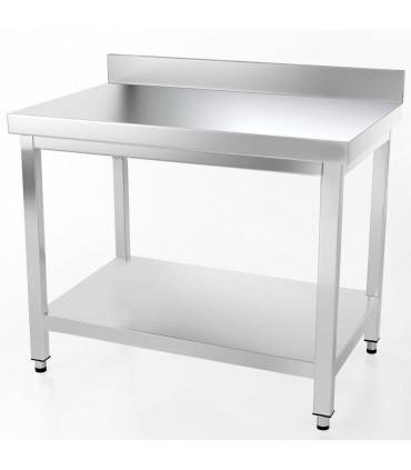Table inox 1000x600 adossée AISI304 + 1 sous tablette BUD-DCTAE106 L2G THATS106A