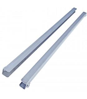Paire de glissières gauche/droite en U de Long. 645 mm GN650TN.52.1