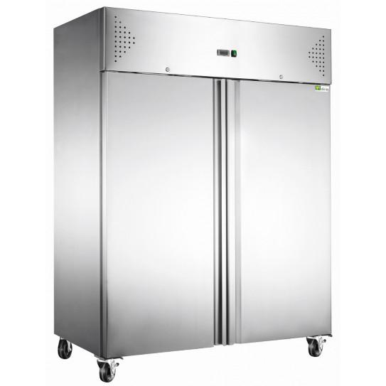 Détail armoire froide tropicalisée positive GN2/1 + roulettes 2 portes inox AAF14P AFI