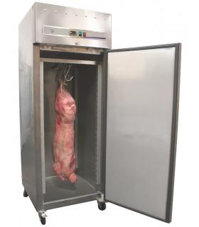 Armoire froide réfrigérée à gibier positive 650L  -2ºC/+8ºC - 1 porte inox GIB-GN650TN L2G
