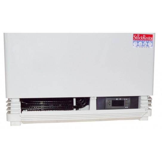Mini vitrine réfrigérée 58 litres 4 faces vitrées - Régulateur thermostat électronique digital
