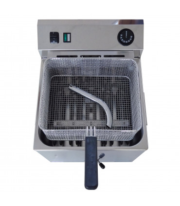 Friteuse électrique professionnelle 11L triphasée 8,1kW - Dim panier 300x245x120mm