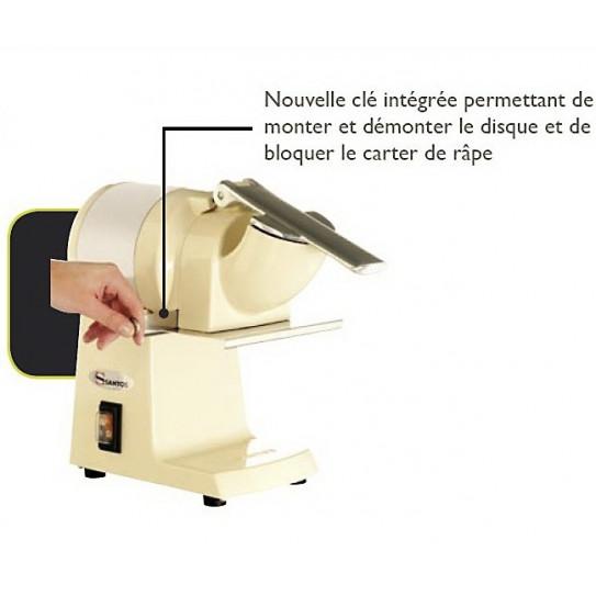 Râpe à fromage Santos n°2 détails démontage du carter de râpe
